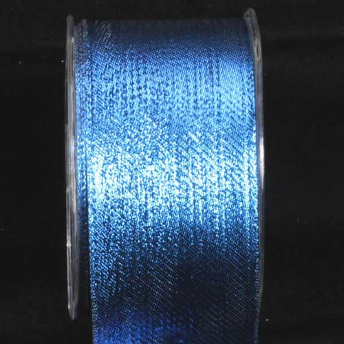 """Shimmering Blue Contemporary Wired Craft Ribbon 2.5"""" x 54 Yards - IMAGE 1"""