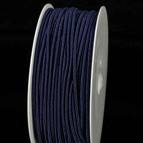 """Navy Blue Solid Wired Craft Ribbon 0.25"""" x 110 Yards - IMAGE 1"""