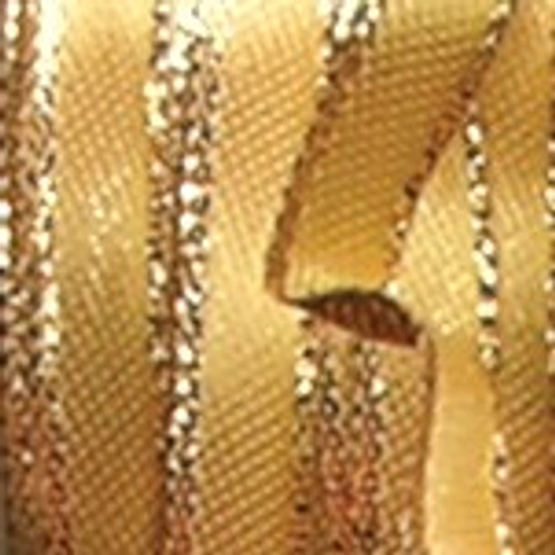 """Gold Solid Woven Wired Craft Ribbon 1.5"""" x 54 Yards - IMAGE 1"""