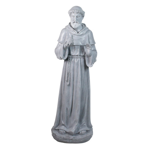 "28"" St. Francis Holding a Bird Outdoor Garden Statue - IMAGE 1"