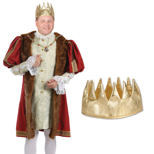 """Club Pack of 12 Gold Medieval Mardi Gras Crowns 5.5"""" - IMAGE 1"""