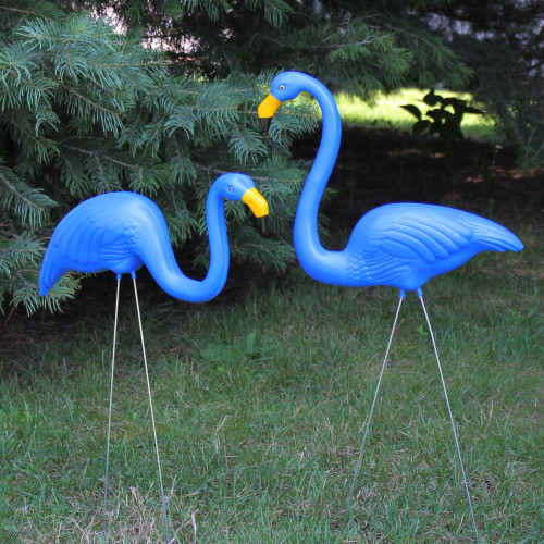 Northlight Set of 2 Tropical Pink Flamingo Outdoor Lawn Stakes