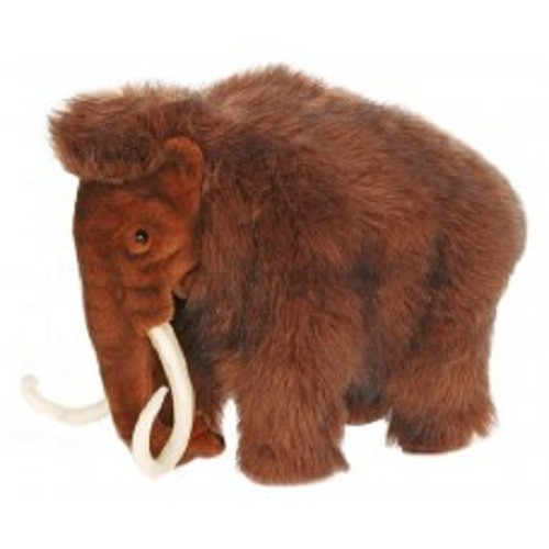 """Set of 2 Brown and Ivory Handcrafted Woolly Mammoth Mama Stuffed Animals 15.5"""" - IMAGE 1"""