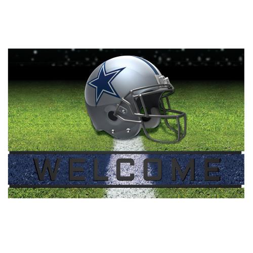 NFL Dallas Cowboys Heavy Duty Crumb Rubber Door Mat - IMAGE 1