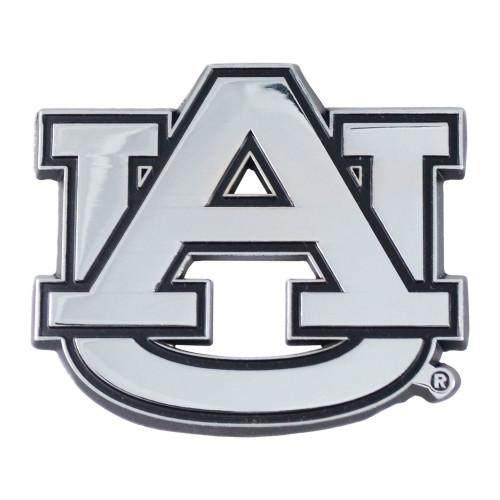"Set of 2 White NCAA Auburn University Tigers Emblem Automotive Stick-On Car Decals 2.5"" x 3"" - IMAGE 1"