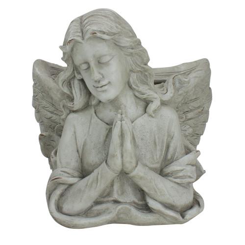 "11"" Gray Praying Angel Bust Outdoor Garden Statue Planter - IMAGE 1"