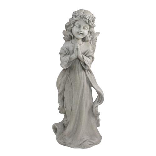 """21"""" Angel Standing in Prayer Outdoor Garden Planter Statue - IMAGE 1"""