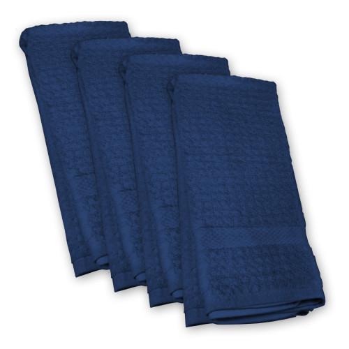 Set of 4 Nautical blue Rectangular Dishtowel 18' x 28' - IMAGE 1