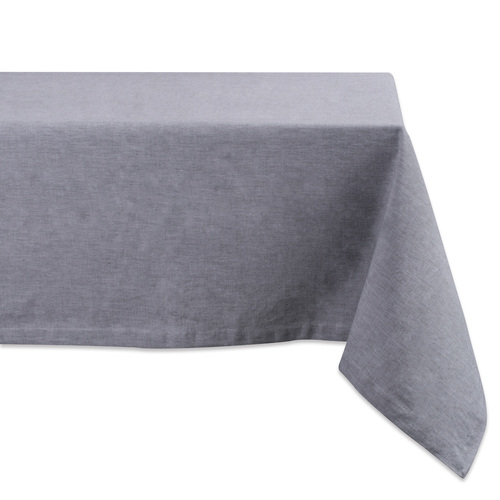 "Gray Chambray Rectangular Tablecloth 60"" x 84"" - IMAGE 1"