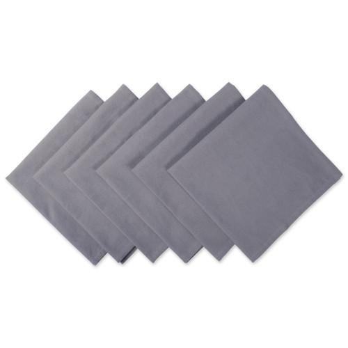 "Set of 6 Gray Square Cloth Napkins 20"" - IMAGE 1"