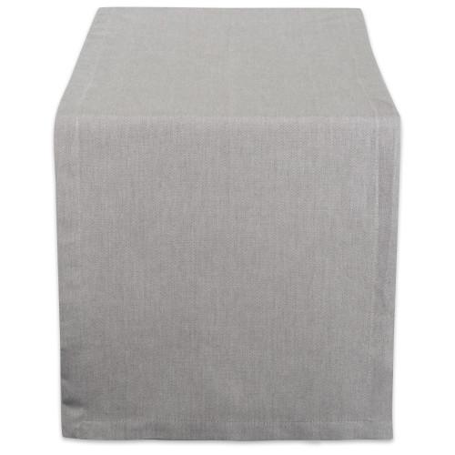 "14"" x 108"" Solid Gray Chambray Rectangular Table Runner - IMAGE 1"