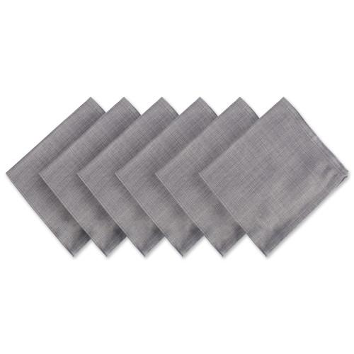"Set of 6 Variegated Gray Square Cloth Napkins 20"" - IMAGE 1"