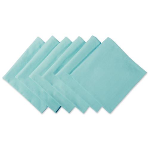 "Set of 6 Aqua Blue Over Sized Square Napkins 20"" - IMAGE 1"