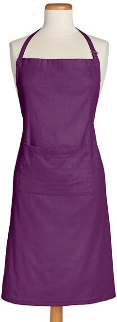 "32"" Eggplant Purple Adjustable Chef Kitchen Apron - IMAGE 1"
