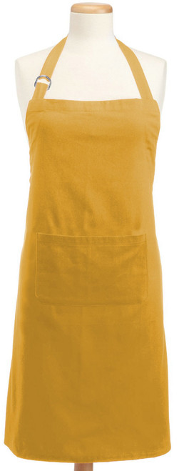 "32"" Mustard Yellow Adjustable Chef Kitchen Apron - IMAGE 1"