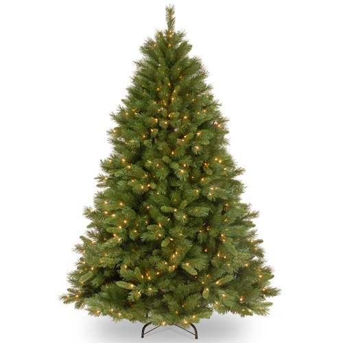 6.5' Pre-Lit Winchester Pine Artificial Christmas Tree - Clear Lights - IMAGE 1
