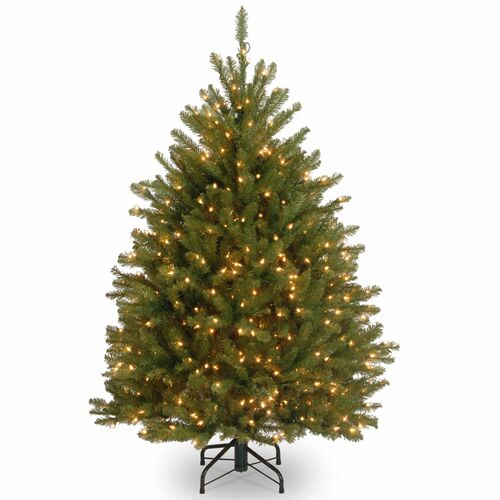 4' Pre-Lit Dunhill Fir Artificial Christmas Tree - Clear Lights - IMAGE 1