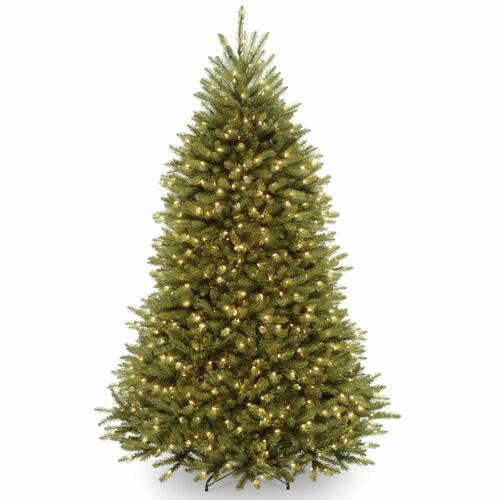 6.5 ft. Pre-lit Dunhill Artificial Christmas Tree with Clear Lights - IMAGE 1