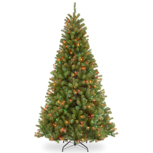 6.5' Pre-lit North Valley Spruce Artificial Christmas Tree –Multicolor Lights - IMAGE 1