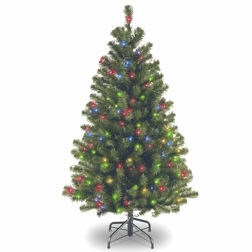 4.5' Pre-lit North Valley Spruce Artificial Christmas Tree – Multicolor Lights - IMAGE 1