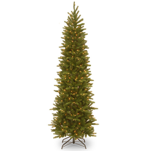 6.5' Pre-Lit Pencil Fir Artificial Christmas Tree - Clear Lights - IMAGE 1