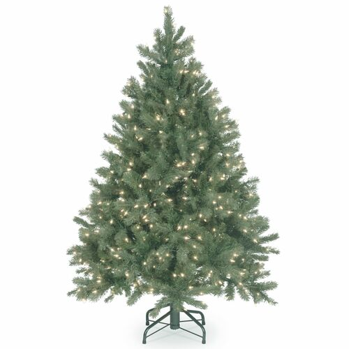 4.5' Pre-Lit Downswept Douglas Blue Fir Christmas Tree - Clear Lights - IMAGE 1