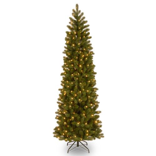6.5' Pre-Lit Downswept Douglas Slim Fir Artificial Christmas Tree - Clear Lights - IMAGE 1