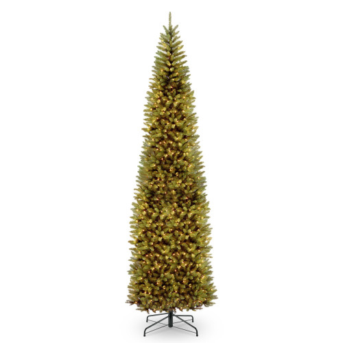 10' Pre-lit Kingswood Fir Pencil Artificial Christmas Tree – Clear Lights - IMAGE 1