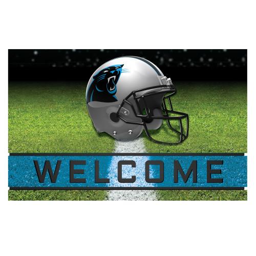 NFL Carolina Panthers Heavy Duty Crumb Rubber Door Mat - IMAGE 1