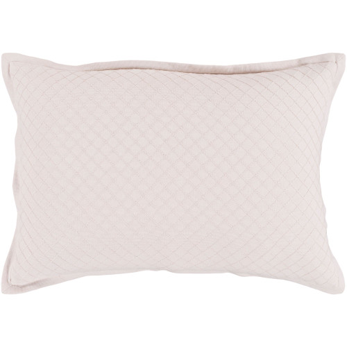 """19"""" Pale Pink Diamond Embroidered Throw Pillow - Poly Filled - IMAGE 1"""