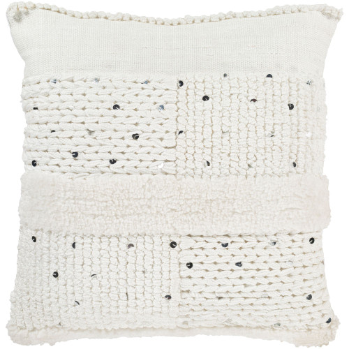 """20"""" White Throw Pillow Cover with Knife Edge - IMAGE 1"""