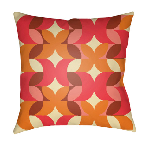 """18"""" Brown and Red Floral Square Throw Pillow Cover - IMAGE 1"""