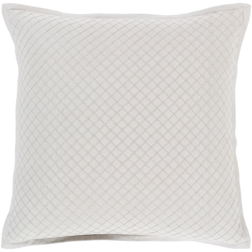 """18"""" Pale Green Diamond Embroidered Throw Pillow - Poly Filled - IMAGE 1"""