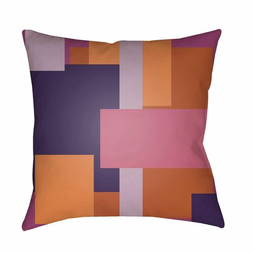 """18"""" Brown and Violet Throw Pillow Cover with Knife Edge - IMAGE 1"""