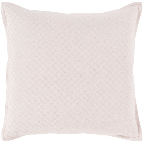 """18"""" Pale Pink Diamond Embroidered Throw Pillow - Poly Filled - IMAGE 1"""
