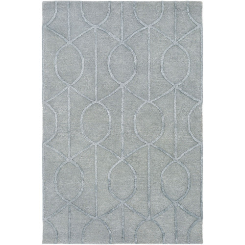 9' x 13' Contemporary Style Gray Rectangular Area Throw Rug - IMAGE 1