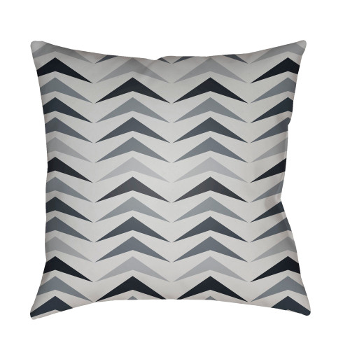 """18"""" Gray Throw Pillow Cover with Knife Edge - IMAGE 1"""