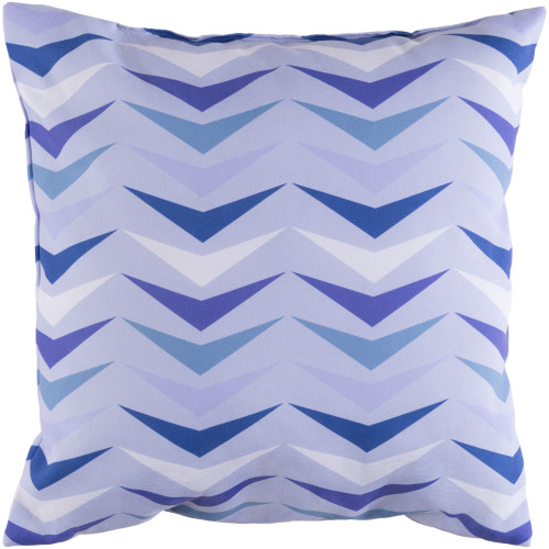 """18"""" Blue Throw Pillow Cover with Knife Edge - IMAGE 1"""