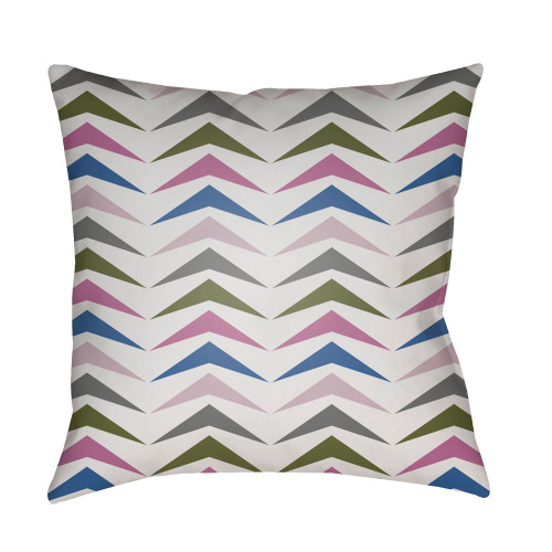 """18"""" Green and Purple Throw Pillow Cover with Knife Edge - IMAGE 1"""