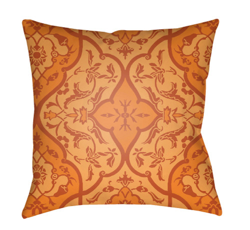 """22"""" Orange Contemporary Style Square Throw Pillow Cover - IMAGE 1"""