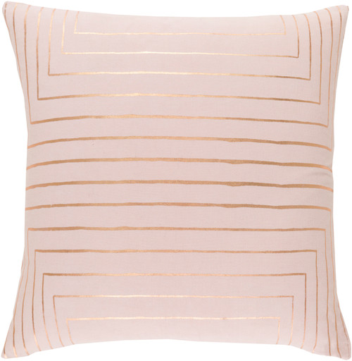 """20"""" Blush Pink and Rust Golden Brown Woven Decorative Throw Pillow Cover - IMAGE 1"""