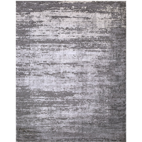 """9'3"""" x 12'3"""" Distressed Abstract Gray Rectangular Machine Woven Area Rug - IMAGE 1"""