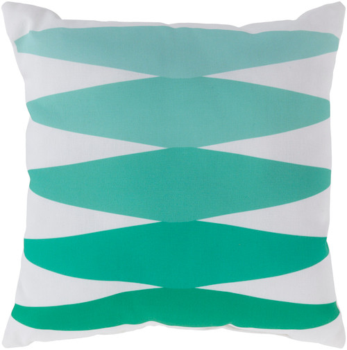 """18"""" Mint Green and White Geometric Square Throw Pillow Cover - IMAGE 1"""