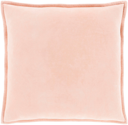 """22"""" Solid Peach Square Throw Pillow Cover - IMAGE 1"""