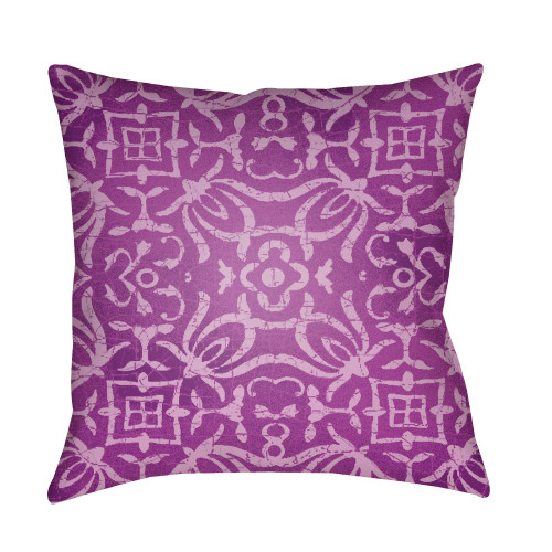 """22"""" Purple Contemporary Style Square Throw Pillow Cover - IMAGE 1"""