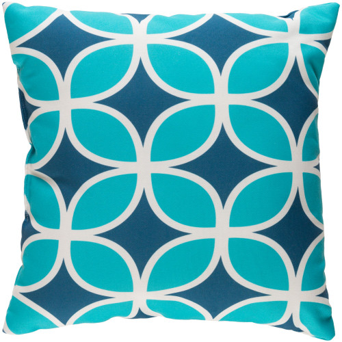 """18"""" Blue and White Link Pattern Square Throw Pillow Cover - IMAGE 1"""