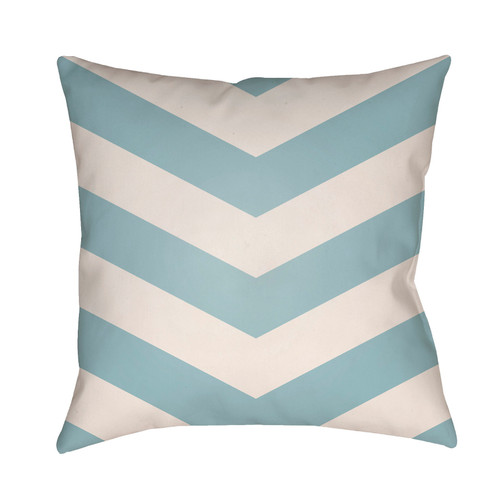 """26"""" Light Blue and White Chevron Patterned Square Throw Pillow Cover with Knife Edge - IMAGE 1"""