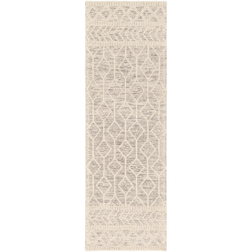 2.5' x 8' Geometric Beige Rectangular Area Throw Rug Runner - IMAGE 1