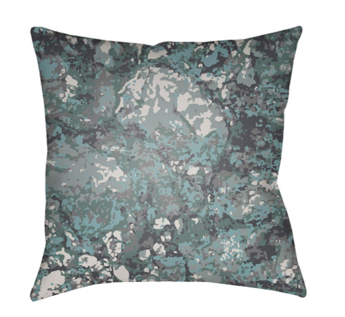 "22"" Navy and Gray Square Throw Pillow Cover with Knife Edge - IMAGE 1"