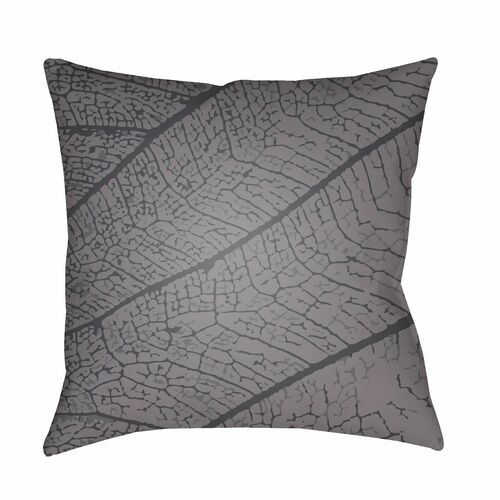 """22"""" Gray and Black Earth Patterned Throw Pillow Cover with Knife Edge - IMAGE 1"""